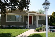 bungalow makeover - adding that portico looks relatively easy, and adds a lot of curb appeal