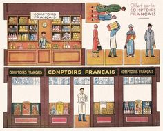 Vintage paper model - This was a premium - Chocolate Mignot - Comptoirs Francais