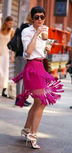 DIY Inspiration: Tassel Skirt. Latest American street style fashion