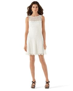 Whbm red guipure lace dress