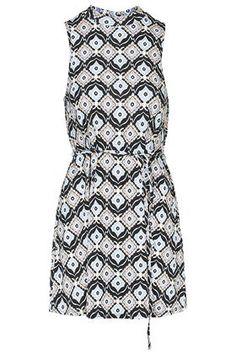 PETITE Tile Print Tunic Dress