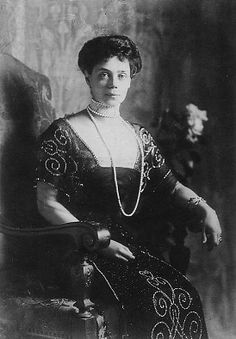 Her Imperial Highness Grand Duchess Xenia Alexandrovna of Russia (1875-1960).  Her only daughter, Irina, married Prince Felix Yusupov, arguably the man who killed Rasputin. In Parsian exile, they established the couture house Irfe.