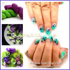 #mosaic pastel green gel paint love :) #gel #gelnails #gelpaint #pastel #pastelgreen#salon #salonnails #salondesign #idonails #ilovenails #thisiswhatido #susan #summer #nails #susansnails #susansnailstore #peterborough