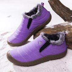 Designer Large Size Waterproof Fur Lining Flat Snow Boots - NewChic Mobile