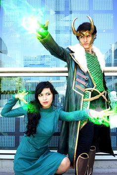 Not gonna lie, we are in love with how our Loki & Leah costumes turned out. Cosplay by us! Photos by Eurobeat!