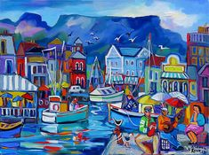 Artwork of Isabel le Roux exhibited at Robertson Art Gallery. Original art of more than 60 top South African Artists - Since Ship Paintings, Landscape Paintings, Acrylic Paintings, Landscapes, Sailboat Painting, South African Artists, Water Art, Amazing Drawings, Coastal Art