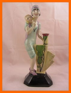 Kevin Francis Art Deco Clarice Cliff Figurine Limited Certificate RARE | eBay