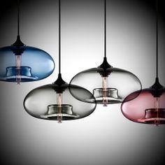 clear Pendulum Lights for Kitchen | light jpg modern aurora pendant lights in sapphire gray crystal clear ...