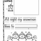 Great to do after reading Snowmen at Night.    Snowman writing for kindergarten. Clip art by djinkers:)...