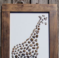 Giraffe by TheRockArtShop on Etsy https://www.etsy.com/listing/398572241/giraffe
