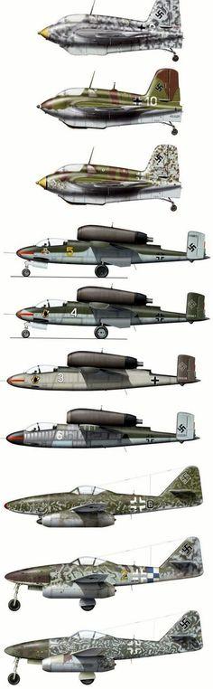 Luftwaffe Jets Me 163 , He 162 , Me 262