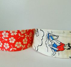 2-in-1 Reversible Headband-By the Seaside and Red Floral Print by KYEbags, $9.99