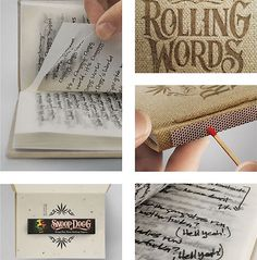 New Snoop Dogg songbook can be smoked (literally!) // #design #packaging #poetry