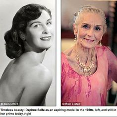 Daphne Selfe is the world's oldest supermodel. She is 83 and has never had Botox or facelift and still does Paris catwalks!