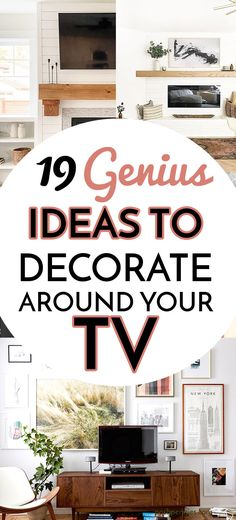 Pictures Around Tv, Tv Wall Panel, Huge Tv, Decor Around Tv, Living Room Wall Units, Tv Decor, Pennies, Bethel Park, Apartment Plans