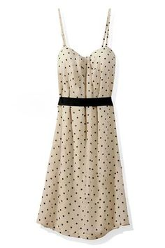 Polka Dot Cream Dress