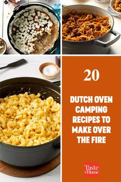 20 Dutch Oven Camping Recipes to Make Over the Fire Best Camping Meals, Camping Recipes, Dutch Oven Camping, Fire Food, Dutch Oven Recipes, Outdoor Cooking, Food To Make, Macaroni And Cheese, Grilling