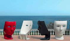 Driade furniture italy  Those would be cool to have to creep everyone out... lol
