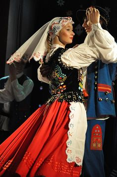 Folk costumes from Rzeszów, Poland.