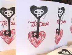 edward gorey inspired punk rock 'til death do us part valentines...   http://www.etsy.com/listing/122430090/til-death-a-punk-rock-valentine-for?