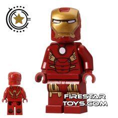 LEGO Super Heroes Mini Figure - Iron Man - Circle Chest.