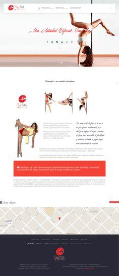 Desarrollo web para la academia y estudio de baile de Pole Dance, Gaby Toledo. Resistencia, Chaco, Argentina Academia, Dance Studio, Web Development, Argentina, Projects