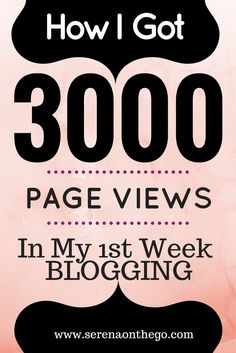 How I got Over 3000 Page Views In My 1st Week Blogging