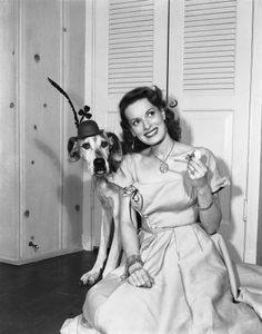 Patrick's Day with her beloved dog Tripoli Old Hollywood Movies, Old Hollywood Stars, Vintage Hollywood, Vintage Movie Stars, Vintage Movies, The Quiet Man, Movie Co, Maureen O'hara, Adventure Film