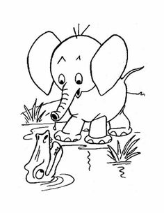 75 best Elephants Coloring Book images on Pinterest in 2018 ...