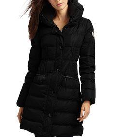 Moncler Fashion Leisure Women Down Coats Goose Long Black  moncler  outlet   women   25b29d350e5