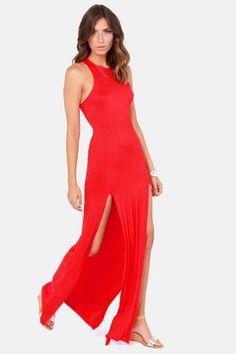 3e872b003e4e4 Cute Red Dress - Maxi Dress - Racerback Dress Cute Red Dresses