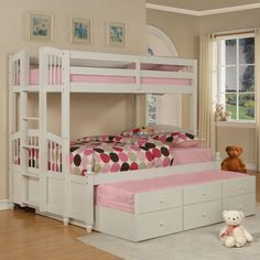 This is perfect for the girls.  Love it!  Storage, bed for both girls plus 1. :). . May Twin over Full Bunk Bed $826.98