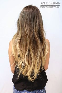 LOVE the ombre with highlights at the end- less hair damage!