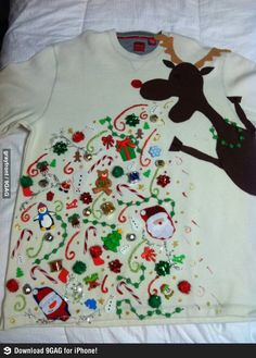 Best Christmas Sweater Ever! next year!  So want!!!!  Should be under crafts