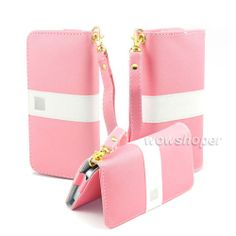 Purse Wallet Leather Case Cover for Samsung Galaxy S3 S4 Mini HTC One x Pink | eBay