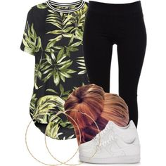 A fashion look from March 2015 featuring Topshop, pleated pants and white shoes. Browse and shop related looks.