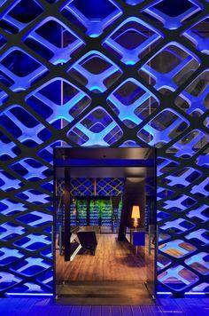 dreamy blue 'tori-tori restaurant' near mexico city