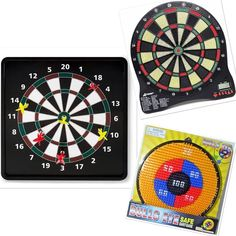Dart Boards Electronic Magnetic and Safe Darts Take aim and challenge your friends with this fun magnetic dart board! Featuring your standard game board and a baseball mode, the six darts magnetically stick to the board. Perfect for man caves and game rooms! FEATURES For ages 6 and up Fun magnetic board with 6 - darts in 2 different game modes SPECIFICATIONS Model number: 1205 13.4 L x 13.4 W x 0.8 H Experience hours of darting entertainment for all simply by hanging it up on any door or…