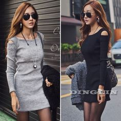 Cheap knitwear dress, Buy Quality dress custom directly from China dress trip Suppliers: