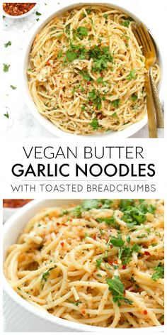 Vegan Butter Garlic Noodles with Toasted Breadcrumbs &; This Savory Vegan Vegan Butter Garlic Noodles with Toasted Breadcrumbs &; This Savory Vegan Waja Tatalje tatalje Vegan These Vegan Butter Garlic Noodles […] lunch ideas Vegan Dinner Recipes, Veggie Recipes, Whole Food Recipes, Healthy Recipes, Easy Recipes, Free Recipes, Chicken Recipes, Vegan Recipes Italian, Kids Vegan Meals