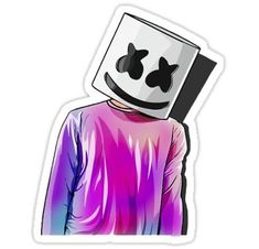 'Marshmello' Sticker by Red Wonderman Tumblr Wallpaper, Black Wallpaper, Marshmallow Face, Marshmello Dj, Marshmello Wallpapers, Simpson Wallpaper Iphone, Itslopez, Song Artists, Amazing Drawings