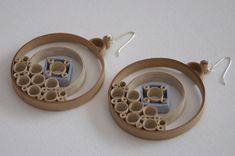 Quilled Paper Circle Hoop Earrings with choice of sterling silver, niobium or surgical steel hooks Large Quilling Wearable Art on Etsy, $30.00