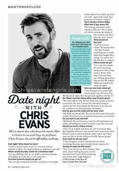 [FULL INTERVIEW] DATE NIGHT WITH CHRIS EVANS – COSMOPOLITAN UK