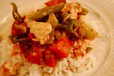 Chicken and Poblano Peppers