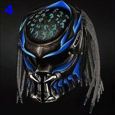 PREDATOR HELMET STREET FIGHTER DOT APPROVED - 3 LASER - BLUE,RED,YELLOW COLOR #Unbranded #Predator