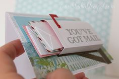 mailbox card - the little envelopes full of small value gift cards would be grea. - mailbox card – the little envelopes full of small value gift cards would be great for a birthday - Cute Cards, Diy Cards, Tarjetas Diy, Karten Diy, Creative Cards, Scrapbook Cards, Couple Scrapbook, Homemade Cards, Birthday Gifts
