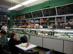 Barney Greengrass, a true Jewish Deli and restaurant.  Open since 1908, walking in takes you back that far but a genuine great breakfast or brunch spot.  Eggs, sturgeon and salmon on a toasted bialy. A great experience.