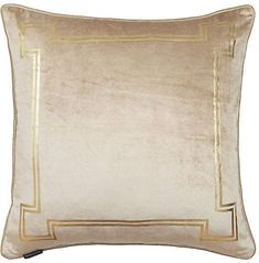 Aria 24x24 Pillow - Taupe Velvet - Thurston Reed - taupe/gold #Sponsored , #Aff, #Pillow#Taupe#Aria Office Supplies List, Hue, Neutral, Velvet, Beige, Pillows, Luxury, Pens, Gold