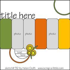 Scrap A Little- Sketches: 3 photos