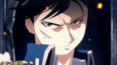 The Flame Alchemist | Roy Mustang | Fullmetal Alchemist Brotherhood | #FMAB | Anime | (gif)